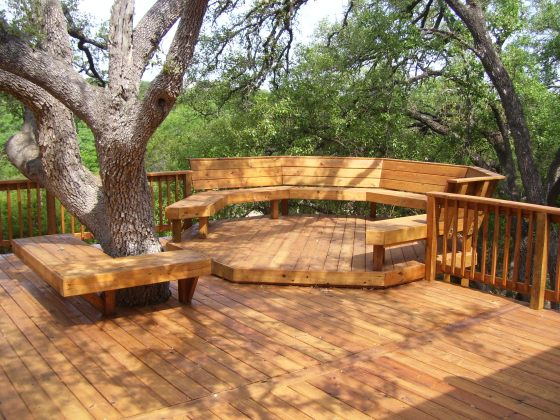 backyard-porch-of-exterior-amazing-wooden-backyard-decking-ideas-with-deck-forest-area