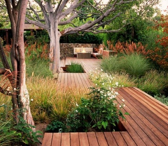 Stunning-Backyard-by-Building-a-Deck-With-wooden-deck-flooring-and-outdoor-furniture-design