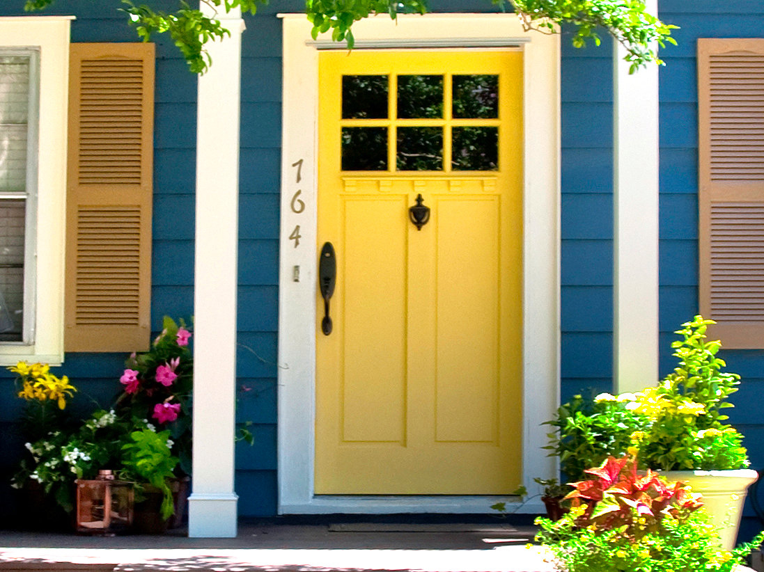 822 #BA9B11 Sweet Images Of Front Doors With Yellow Entry Doors Color And White  image Colored Entry Doors 47131097
