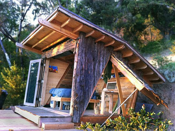 unusual-cabana-with-opening-walls-wooden-wall-and-wooden-patio-near-the-wooden-deck-in-back-yard